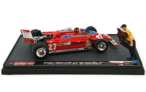 フェラーリ 126CK ターボ 1961モナコGP 優勝 No27 30周年記念(1981-2011)モデル (1/43 ブルムS11/01)