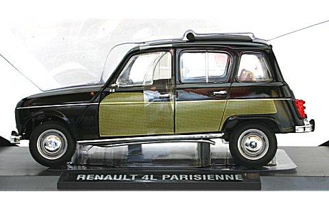 ルノー 4L パリジャン 1963 ブラック/イエロー (1/18 ノレブ185240)