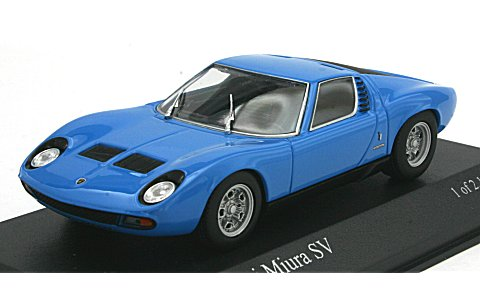 ランボルギーニ ミウラ SV 1971 ブルー (1/43 ミニチャンプス400103650)