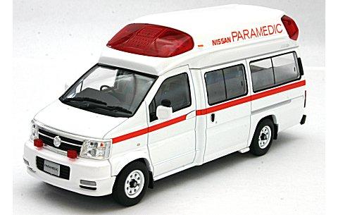 ニッサン パラメディック 高規格救急車 (カタログ仕様) (1/43 トミーテック234708)