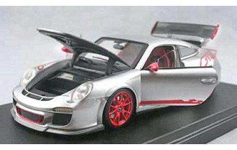 ポルシェ 911 (997) GT3 RS シルバー フル開閉モデル (1/43 フロンティアートFA001-01)