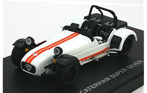 ケーターハム スーパー7 JPE サイクルフェンダー ホワイト/オレンジストライプ (1/43 京商K03156W)