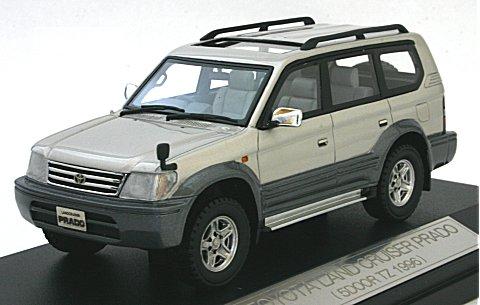 トヨタ ランドクルーザー PLADO (5DOOR TZ 1996) ウオームグレーパール (1/43 ハイストーリーHS054SL)