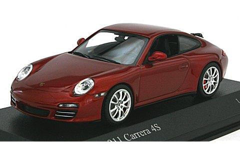 ポルシェ 911 カレラ4S 2008 レッドM (1/43 ミニチャンプス400066422)