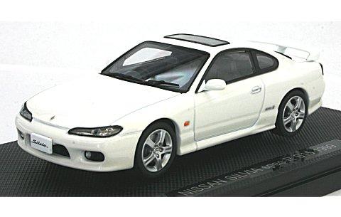 ニッサン シルビア スペックR S15 1999 ホワイト (1/43 エブロ44613)