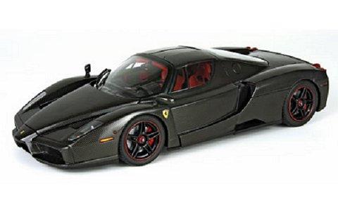 フェラーリ エンツォ (カーボンファイバーパターン) ブラック (1/18 BBR HE180043)