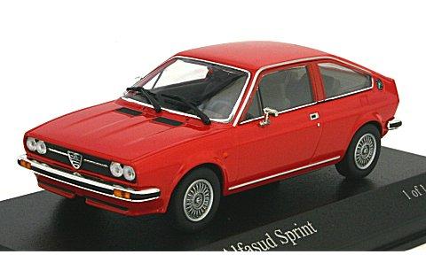 アルファロメオ アルファスッド スプリント 1976 レッド (1/43 ミニチャンプス400120620)