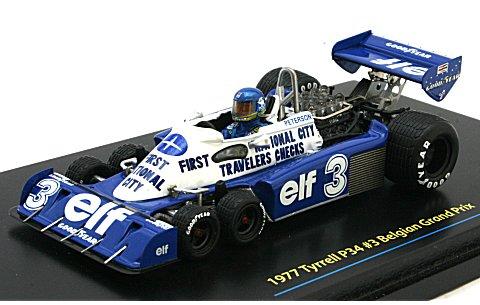 ティレル P34 1977 後期モデル ベルギーGP3位 No3 (1/43 トゥルースケールミニチュアズ 114352)