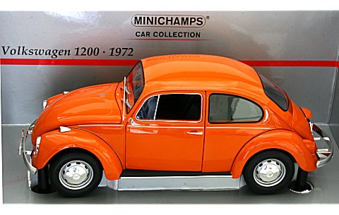 フォルクスワーゲン 1200 1972 オレンジ (1/18 ミニチャンプス150058101)