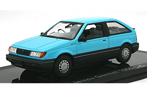 いすゞ ジェミニ 1500 C/C 1987 セイシェルブルー (1/43 ノレブ800728)