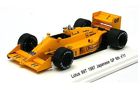ロータス 99T 1987 日本GP 6位 No11 (1/43 レーヴコレクションR70184)