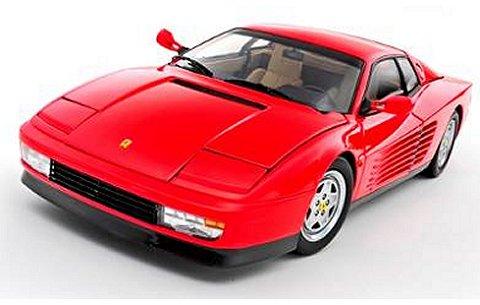 フェラーリ テスタロッサ 1989 後期型 レッド/インテリア:タン (1/18 京商K08425R)