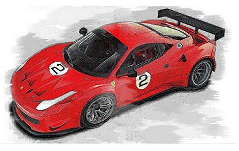 フェラーリ 458 Italia GT2 No2 レッド (1/18 BBRP1827DIS)