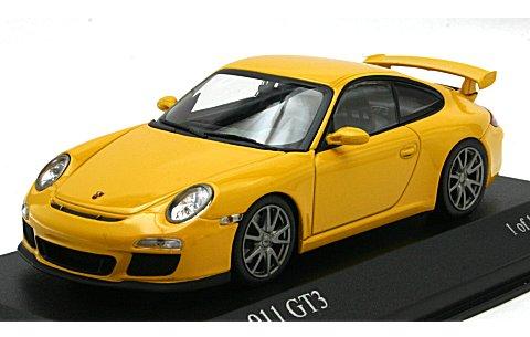 ポルシェ 911 GT3 (997II) 2009 イエロー (1/43 ミニチャンプス400068021)