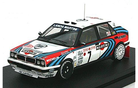 ランチア デルタ HF インテグラーレ 16V No7 1990 モンテカルロ (1/43 hpiレーシング8227)