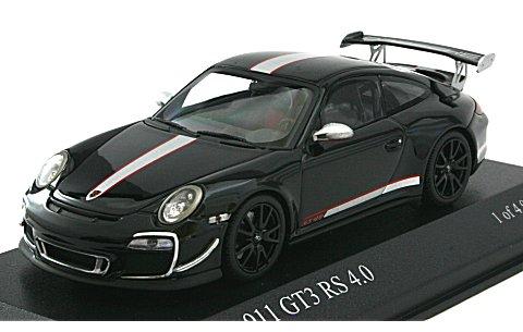 ポルシェ 911 GT3 RS 4.0 (997II) 2011 ブラック (1/43 ミニチャンプス400069102)