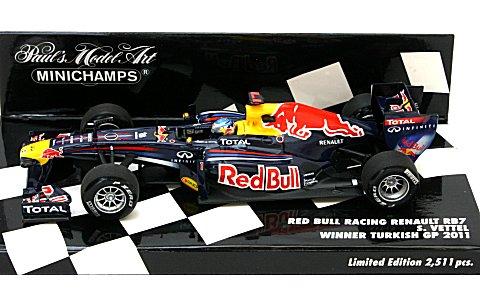 レッドブル レーシング ルノー RB7 S・ベッテル トルコGP ウイナー 2011 (1/43 ミニチャンプス410110201)