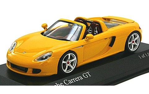 ポルシェ カレラ GT 2003 イエロー (1/43 ミニチャンプス400062634)