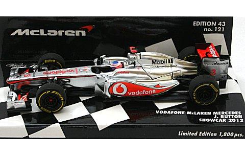 ボーダフォン マクラーレン メルセデス J・バトン 2012 ショーカー (1/43 ミニチャンプス430124373)