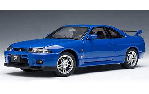 ニッサン スカイライン GT-R (R33) Vスペック LM リミテッド チャンピオンブルー (1/18 オートアート77328)