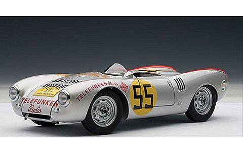 ポルシェ 550 スパイダー 1954 No55 カレラパンアメリカーナ・クラス優勝 (1/18 オートアート85470)