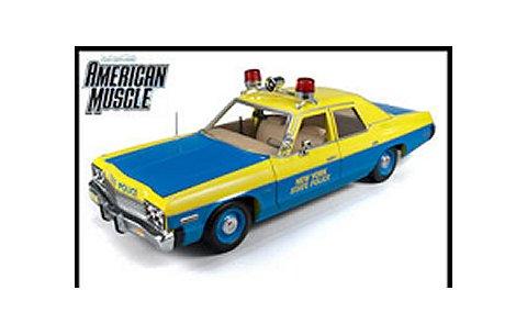 1974 ダッジ Monaco ニューヨーク警察 ブルー/イエロー (1/18 アメリカンマッスルAMM949)