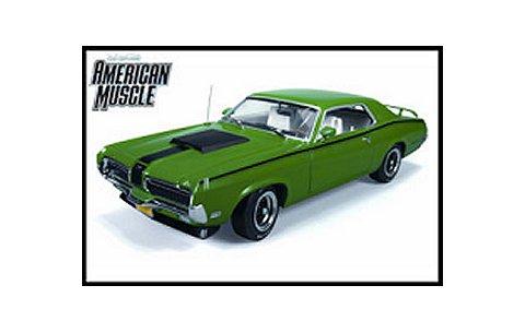 1970 マーキュリー Cougar Eliminator コンペティショングリーン AM 20th Anniversary (1/18 アメリカンマッスルAMM962)