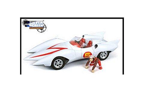 スピードレーサー マッハ5 ホワイト/レッド (1/18 アメリカンマッスルAMM971)