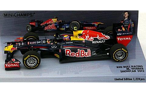 レッドブル レーシング M・ウェバー 2012 ショーカー (1/43 ミニチャンプス410120072)