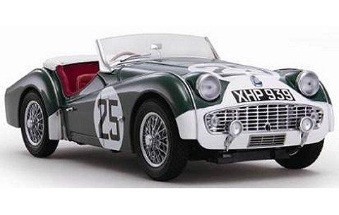 トライアンフ TR3S 1959 LM No25 グリーン/ホワイト (1/18 京商K08033A)