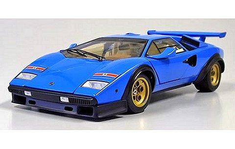ランボルギーニ カウンタック LP500S WW ブルー イラスト付 (1/18 京商K08323BLL)