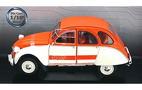 シトロエン 2CV SPOT 1976 オレンジ/ホワイト (1/18 ソリド421183602)
