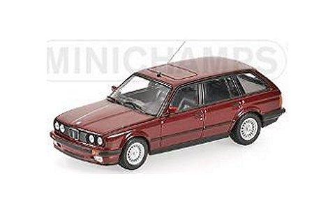 BMW 3シリーズ ツーリング (E30) 1989 レッドM (1/43 ミニチャンプス431024011)