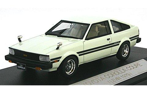 トヨタ カローラ クーペ レビン 1979 サンモリッツホワイト (1/43 ハイストーリーHS057WH)