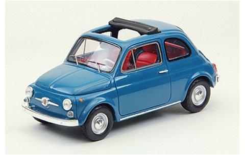 フィアット 500F 1965 ブルー (1/43 エブロ44463)