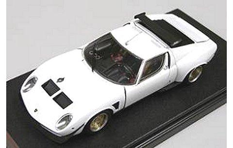 ランボルギーニ Miura Jota SVR ホワイト フル開閉モデル (1/43 フロンティアートFA004-02)