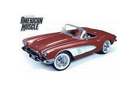 1961 シェルビー Corvette Convertible 「Road&Track Magazine」 レッド (1/18 アメリカンマッスルAMM991)