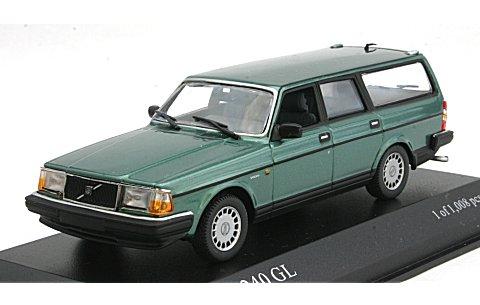 ボルボ 240 GL ブレーク 1986 グリーンM (1/43 ミニチャンプス400171414)