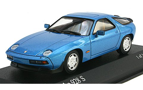 ポルシェ 928 S 1979 ブルーM (1/43 ミニチャンプス400068120)