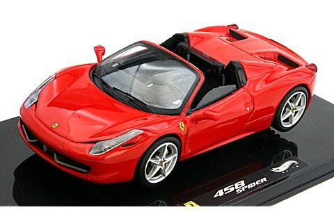 フェラーリ 458 Italia スパイダー レッド (1/43 マテルMT1182W)