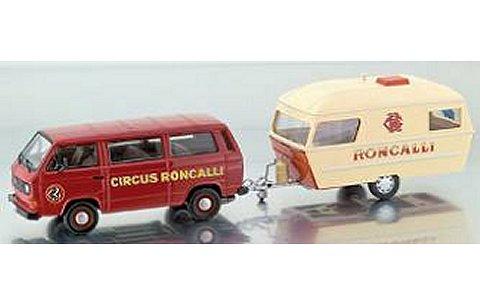 Roncalli 2台セット (VW T3-a バス/ホームトレーラー) (1/43 プレミアムクラシックスPCS11459)