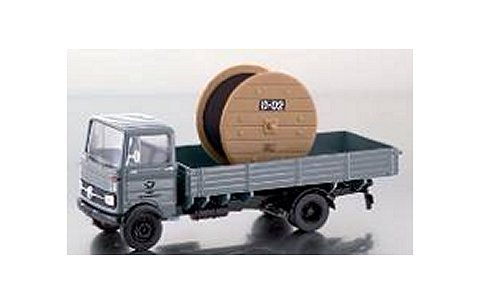 メルセデスベンツ LP608 ピックアップトラック グレー ケーブルドラム「DBP」積載 (1/43 プレミアムクラシックスPCS12507)