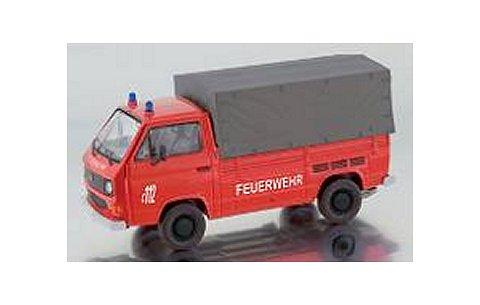 フォルクスワーゲン T3-b 幌付ピックアップトラック 「Feuerwehr」消防隊 (1/43 プレミアムクラシックスPCS13102)