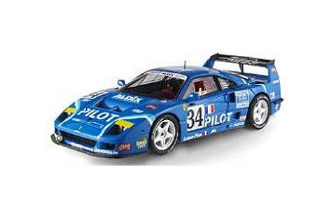 フェラーリ F40 コンペティション Pilot No34 1995 ルマン24h ブルー (エリートシリーズ) (1/43 マテルMT5508X)