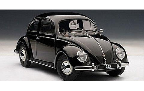 フォルクスワーゲン タイプ1 (ビートル) 1955 ブラック (1/18 オートアート79776)