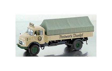 メルセデスベンツ L911 幌付ピックアップトラック 「Postwirt's Dunkel」 (1/43 プレミアムクラシックスPCS12059)