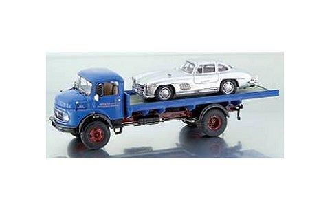 メルセデスベンツ L911 フラットボードトラック (メルセデスベンツ300SL積載) (1/43 プレミアムクラシックスPCS12060)