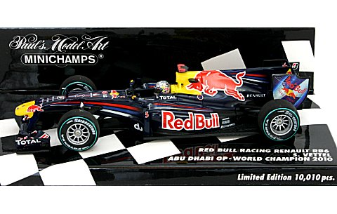 レッドブル レーシング ルノー RB6 S・ベッテル アブダビGP ワールドチャンピオン 2010 (1/43 ミニチャンプス410100105)
