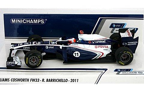 AT&T ウィリアムズ コスワース FW33 R・バリチェロ 2011 (1/43 ミニチャンプス410110011)