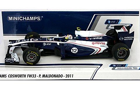 AT&T ウィリアムズ コスワース FW33 P・マルドナド 2011 (1/43 ミニチャンプス410110012)